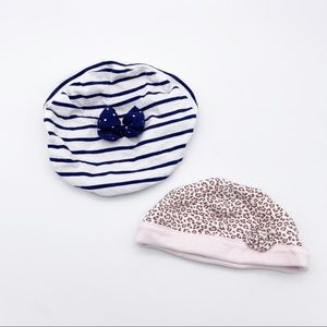 4/$25 LOT of Two Hats - Beret by Le Top & Pink Cap